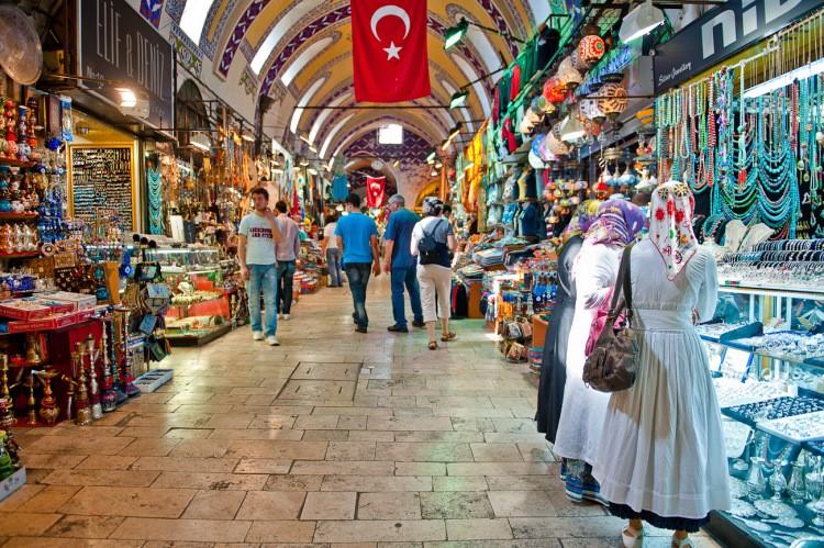 Павильон на рынке Лалели в Турции